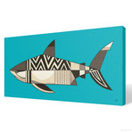 "White Shark (24""W x 12""H x 1.5""D // Gallery Wrapped)"