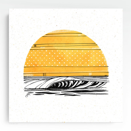 """Yellow Sun (20""""W x 20""""H x 1.5""""D // Gallery Wrapped)"""