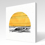 "Yellow Sun (20""W x 20""H x 1.5""D // Gallery Wrapped)"