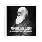 "Charles Darwin Quote // Unknown Artist (26""W x 26""H x 1.5""D)"