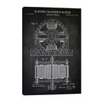 "Tesla Electro Magnetic Motor, Black // PatentPrintStore (26""W x 40""H x 1.5""D)"