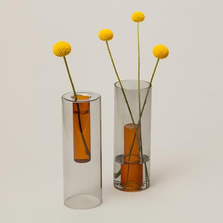 Reversible Glass Vase // Large (Pink + Green)