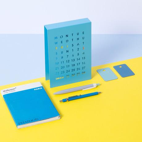Metal Magnetic Perpetual Calendar (Blue)