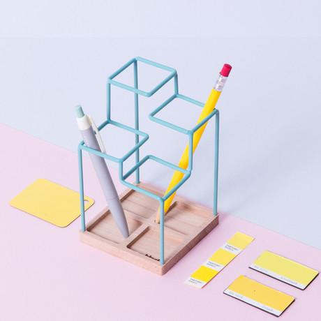Sketch Desk Tidy (Light Blue)