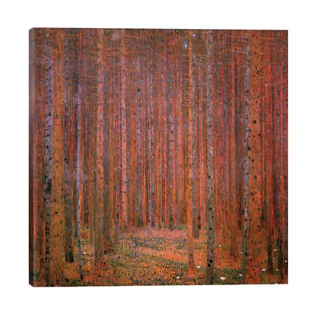 """Fir Forest I // Gustav Klimt (26""""W x 26""""H x 1.5""""D)"""