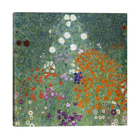 """Bauerngarten (Cottage Garden), 1907 // Gustav Klimt (26""""W x 26""""H x 1.5""""D)"""