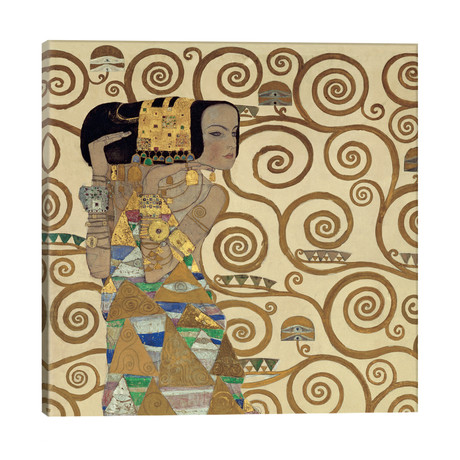 "Expectation, Square // Gustav Klimt (26""W x 26""H x 1.5""D)"