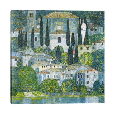 """Kirche in Cassone (Church in Cassone) // Gustav Klimt (26""""W x 26""""H x 1.5""""D)"""
