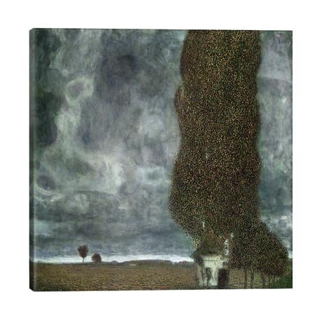 "Approaching Thunderstorm (The Large Poplar II), 1903 // Gustav Klimt (26""W x 26""H x 1.5""D)"