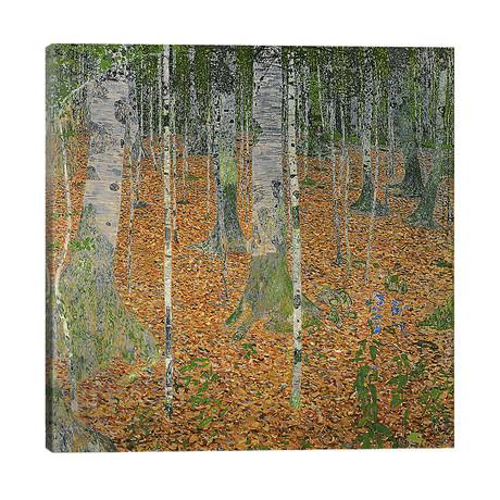 "The Birch Wood, 1903 // Gustav Klimt (26""W x 26""H x 1.5""D)"