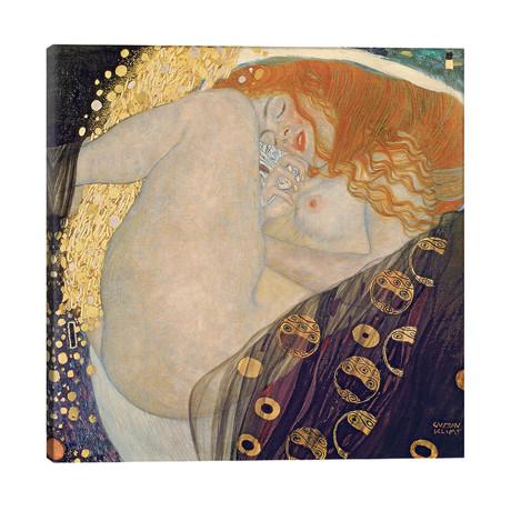 "Danae, 1907-08 // Gustav Klimt (26""W x 26""H x 1.5""D)"