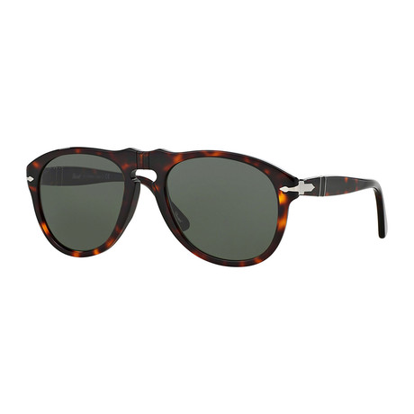 Classic Polarized Sunglasses // Dark Havana + Green
