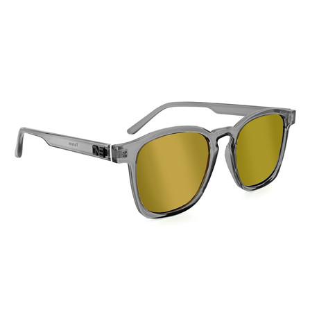 Unisex Totem Polarized Sunglasses // Shiny Crystal Gray
