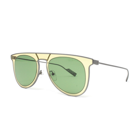 Men's Sunglasses // 53mm // Sand + Green