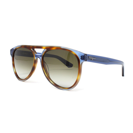 Men's Sunglasses // 57mm // Havana + Blue