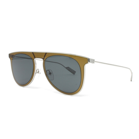 Men's Sunglasses // 53mm // Olive Green + Blue