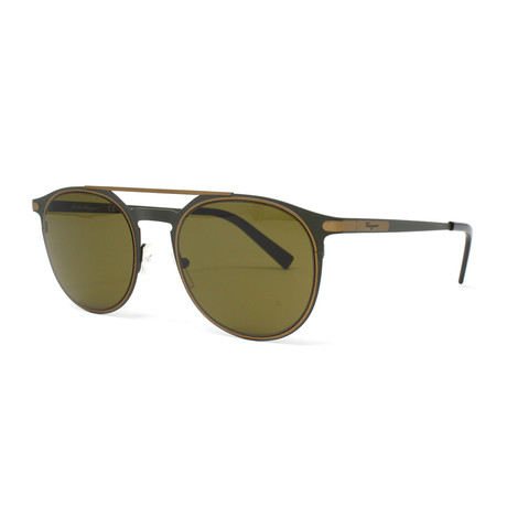 Men's Sunglasses // 52mm // Matte Olive Green