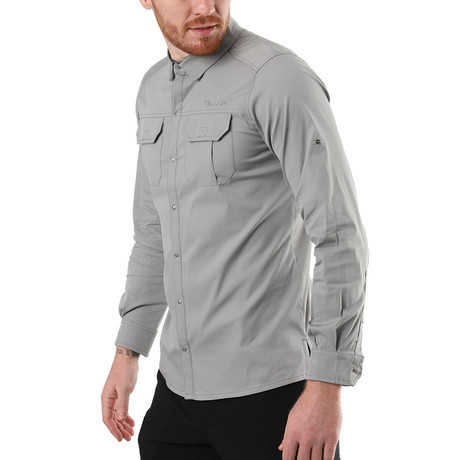 Hudson Button Down Shirt // Light Gray (XS)