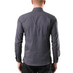 Hudson Button Down Shirt // Gray (XS)