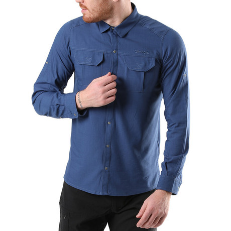 Hudson Button Down Shirt // Blue (XS)