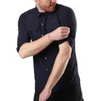Hudson Button Down Shirt // Navy Blue (S)
