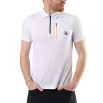 Zip Polo // White (XL)