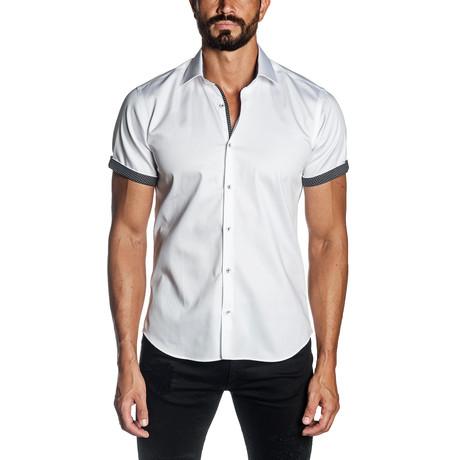 Cain Short Sleeve Shirt // White (S)