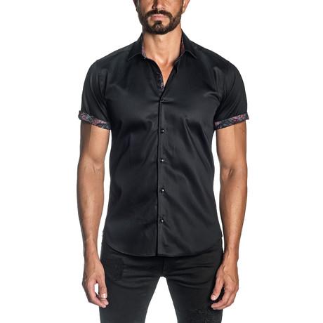 Leo Short Sleeve Shirt // Black (S)