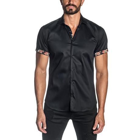 Capri Short Sleeve Shirt // Black (S)