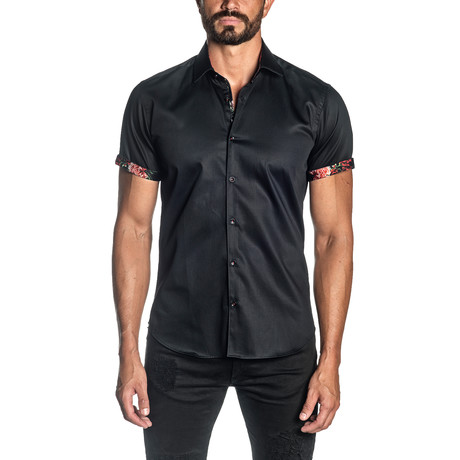 Ron Short Sleeve Shirt // Black (S)