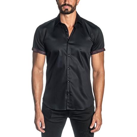 Francesco Short Sleeve Shirt // Black (S)