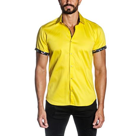 Christopher Short Sleeve Shirt // Yellow (S)