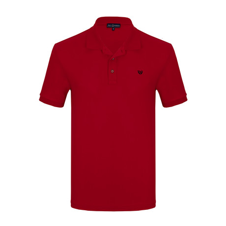 Olivier Short Sleeve Polo Shirt // Red (S)