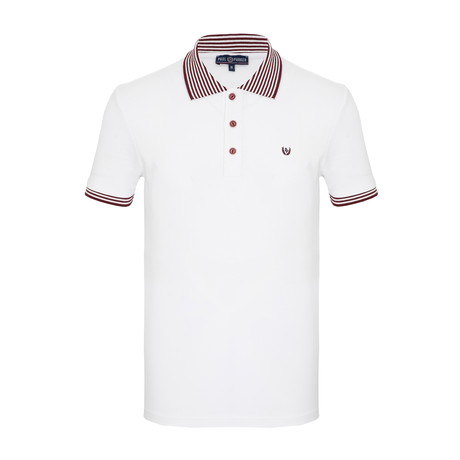 Ronnie Short Sleeve Polo Shirt // White (S)