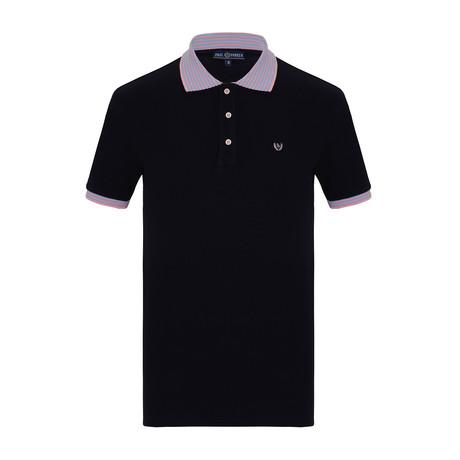 Jax Short Sleeve Polo Shirt // Navy (S)