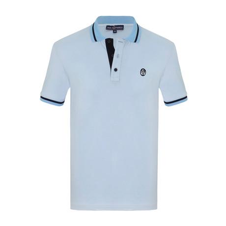 Layton Short Sleeve Polo Shirt // Light Blue (S)