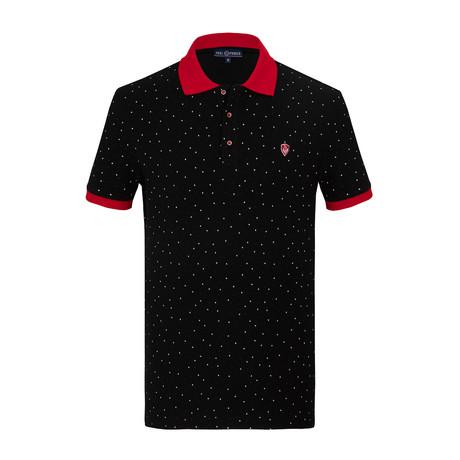 Eduardo Short Sleeve Polo Shirt // Black (S)