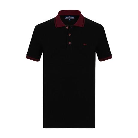 Austin Short Sleeve Polo Shirt // Black (S)
