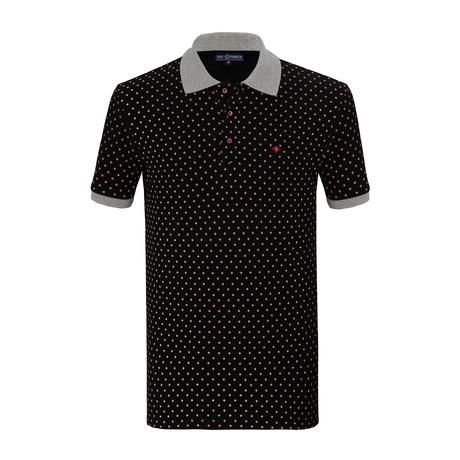 Elijah Short Sleeve Polo Shirt // Black (S)