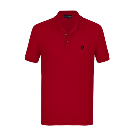 Price Short Sleeve Polo Shirt // Red (S)