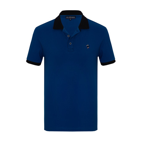 Adrian Short Sleeve Polo Shirt // Sax (S)