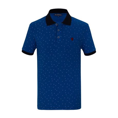 Hamza Short Sleeve Polo Shirt // Sax (S)
