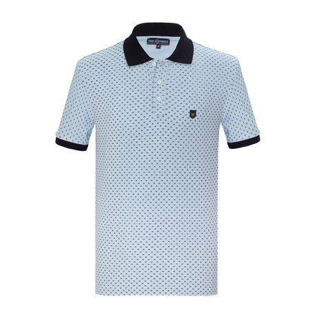 Tammy Short Sleeve Polo Shirt // Light Blue (S)