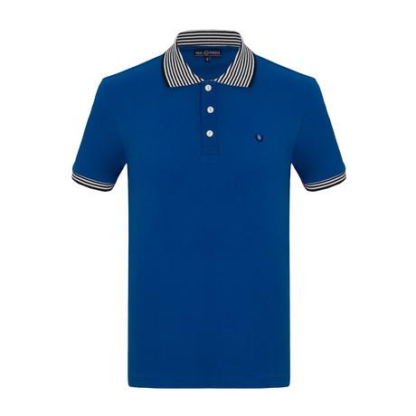 Colin Short Sleeve Polo Shirt // Sax (S)