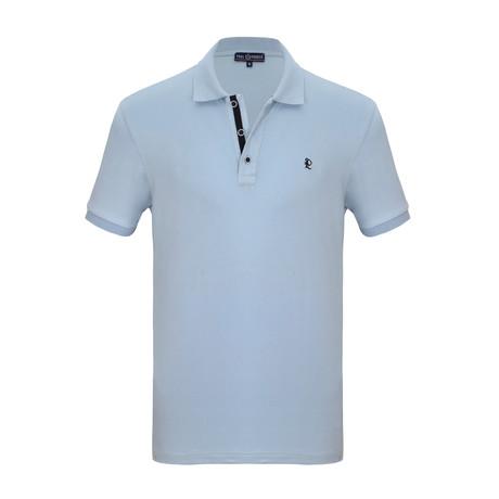 Rafael Short Sleeve Polo Shirt // Light Blue (S)