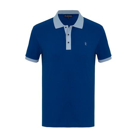 Otis Short Sleeve Polo Shirt // Sax (S)