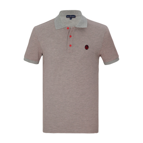 Callum Short Sleeve Polo Shirt // Gray (S)