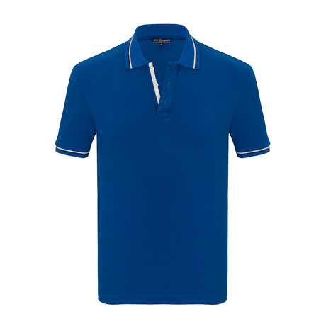 Mitchell Short Sleeve Polo Shirt // Sax (S)