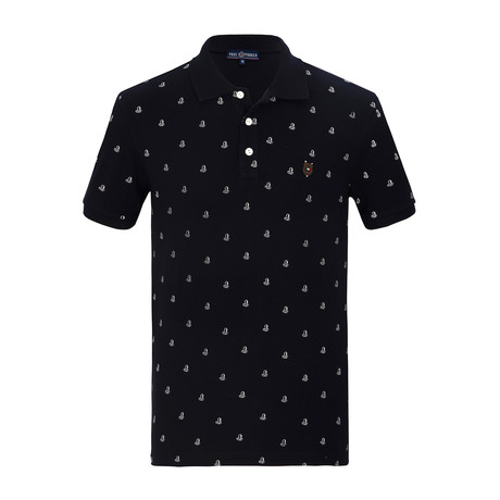Gus Short Sleeve Polo Shirt // Navy (S)