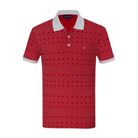 Dejan Short Sleeve Polo Shirt // Red (S)